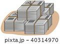 資源ゴミ 新聞紙山積み 40314970
