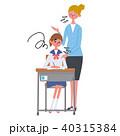 英語勉強する女子学生 イラスト 悩み 40315384