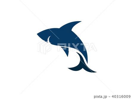 shark logo templateのイラスト素材 40316009 pixta