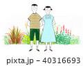 田舎道を散歩する兄妹 40316693