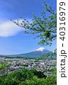 富士山 初夏 新緑の写真 40316979