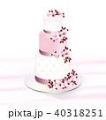 ケーキ 花 お花のイラスト 40318251
