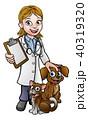 獣医 獣医師 女性のイラスト 40319320
