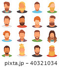 Beards vector portraite of bearded man with male haircut in barbershop and barbed mustache on 40321034