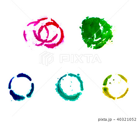 A set of gouache round spots. 40321052
