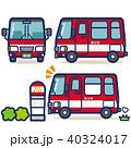 バス 路線バス バス停のイラスト 40324017