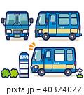 バス 路線バス バス停のイラスト 40324022