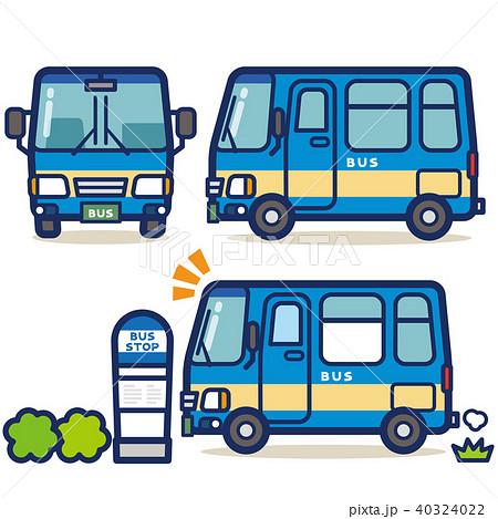 はたらく乗り物 バス(青系) 40324022