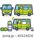 バス 路線バス バス停のイラスト 40324026