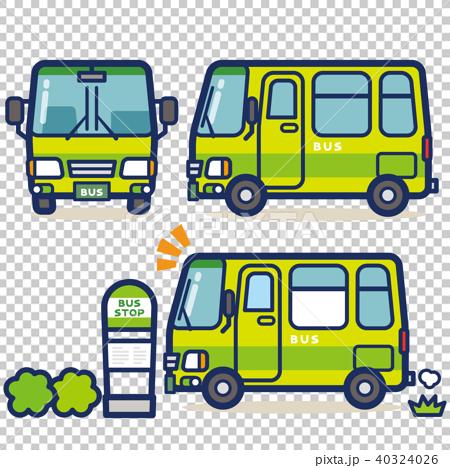 はたらく乗り物 バス(グリーン系) 40324026