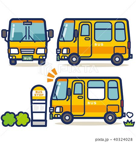 はたらく乗り物 バス(イエロー系) 40324028