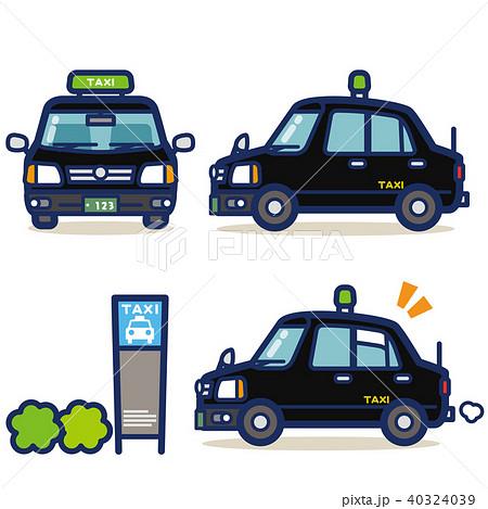 はたらく乗り物 タクシー(黒系) 40324039