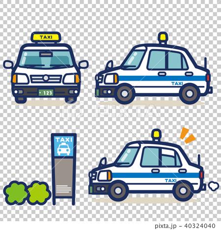 はたらく乗り物 タクシー(白系) 40324040