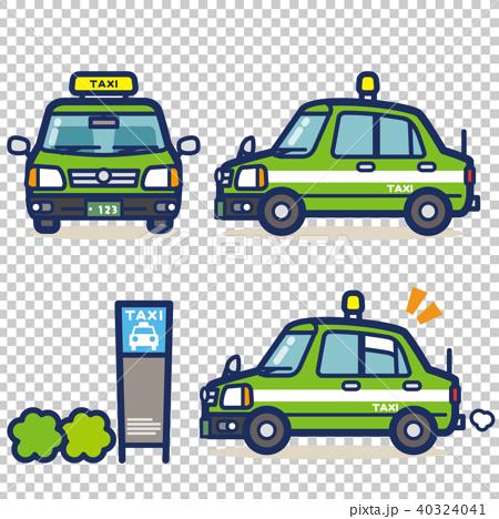 はたらく乗り物 タクシー(グリーン系) 40324041