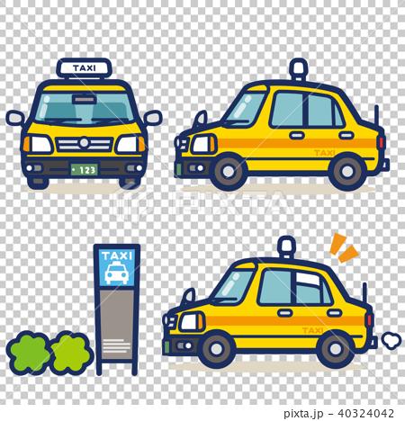 はたらく乗り物 タクシー(イエロー系) 40324042