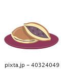 どら焼き 和菓子 スイーツのイラスト 40324049