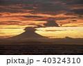 富士山 夕焼け 風景の写真 40324310