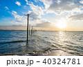 海 江川海岸 電柱の写真 40324781