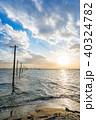 海 江川海岸 電柱の写真 40324782