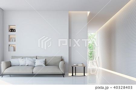 Modern white living room interior 3d render 40328403