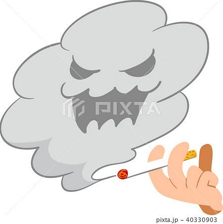 煙草 副流煙 手のイラスト素材 40330903 Pixta