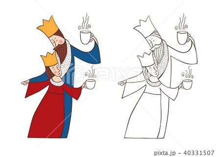 king and queenのイラスト素材 40331507 pixta
