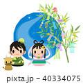 七夕 天の川 織姫のイラスト 40334075