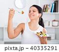 食事をする 食事 食べるの写真 40335291