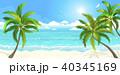 ヤシ ビーチ 浜辺のイラスト 40345169