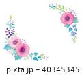 花 植物 飾りのイラスト 40345345