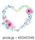 花 ハート リースのイラスト 40345346
