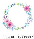 花 リース オーナメントのイラスト 40345347