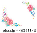 花 植物 飾りのイラスト 40345348