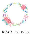 花 リース オーナメントのイラスト 40345350