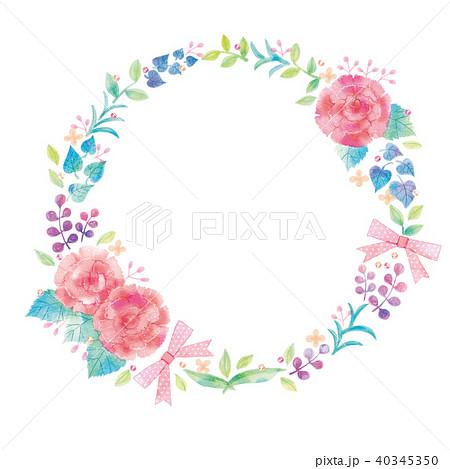 花のリースのイラスト 40345350