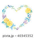 花 ハート リースのイラスト 40345352
