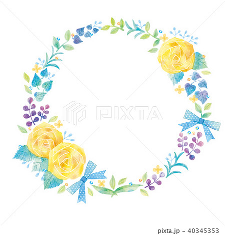 花のリースのイラスト 40345353