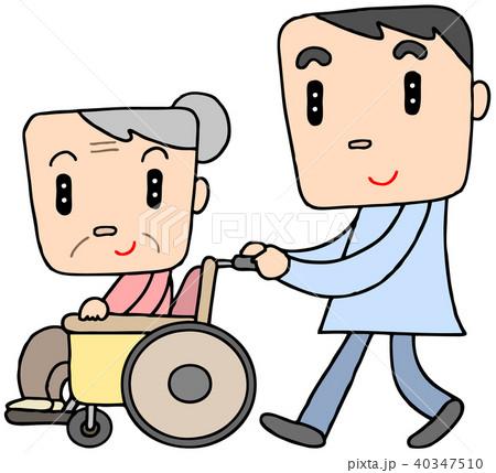 車椅子介助 40347510