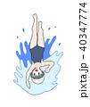 背泳ぎ 40347774