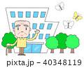 老人ホーム 特別養護老人ホーム 高齢者のイラスト 40348119