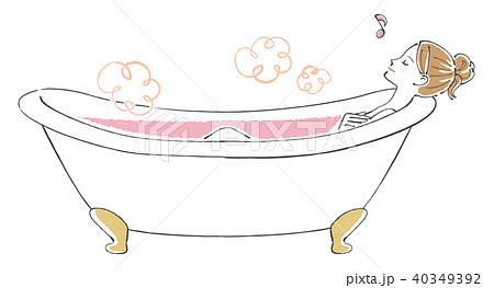 女性 入浴 入浴剤 40349392