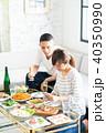 夫婦 食事 リビングの写真 40350990