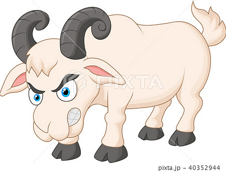 Angry cartoon goat 40352944