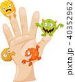 バクテリア バイキン ばい菌のイラスト 40352962