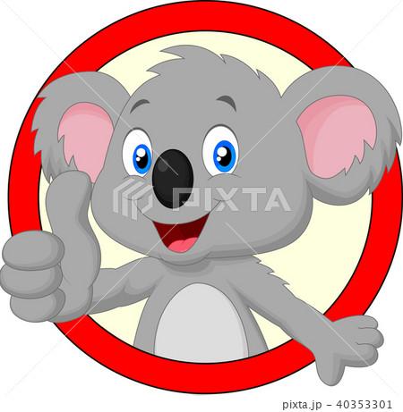 Cute koala giving thumb up 40353301