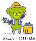 熊 茶摘み キャラクターのイラスト 40354830