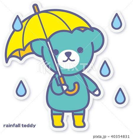 シーズンズテディ 雨降り 40354831