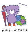 熊 あじさい 紫陽花のイラスト 40354834