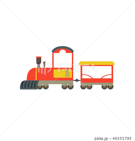 kids cartoon red and yellow toy train railroad toy with locomotive