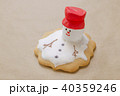 homemade gingerbread like melting snowman on the baking paper 40359246